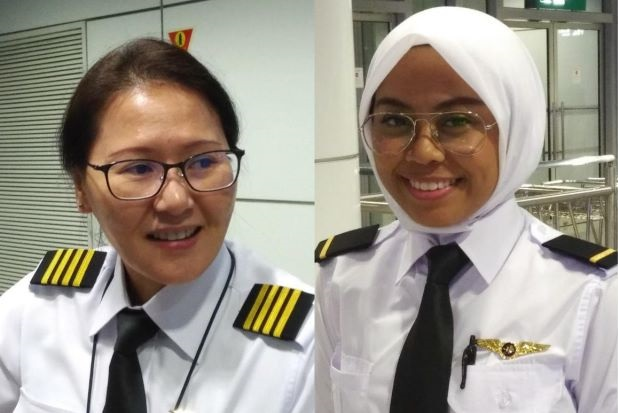Female pilots Malaysia Airlines